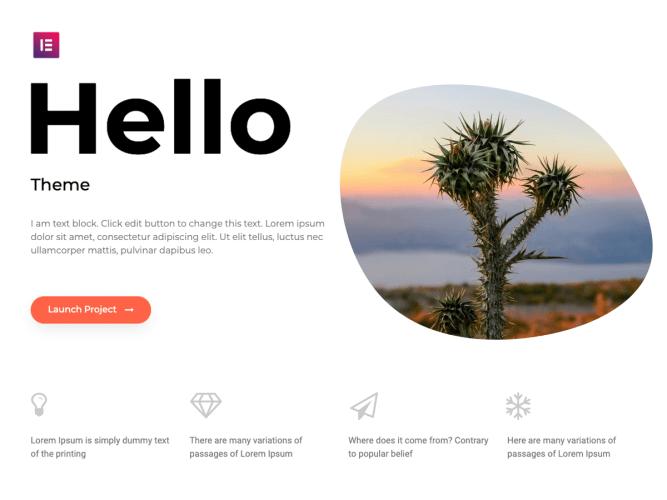 June 2019 WordPress news - Elementor Hello theme