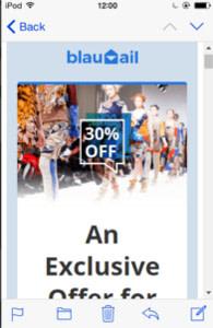 BlauMail on mobile