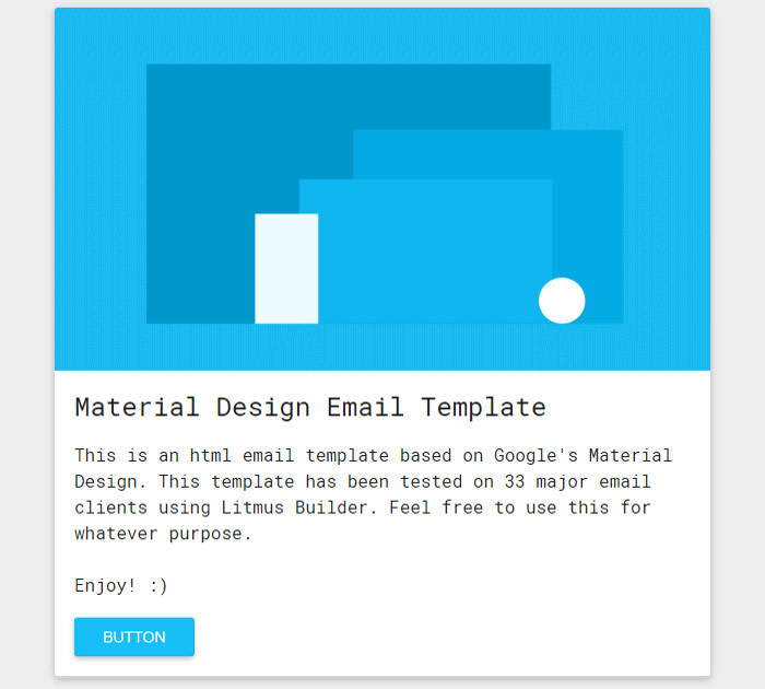 Free Material Design Email Template