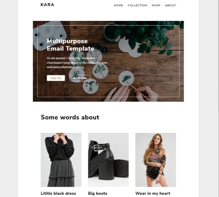 Best HTML Email Templates #2: Kara