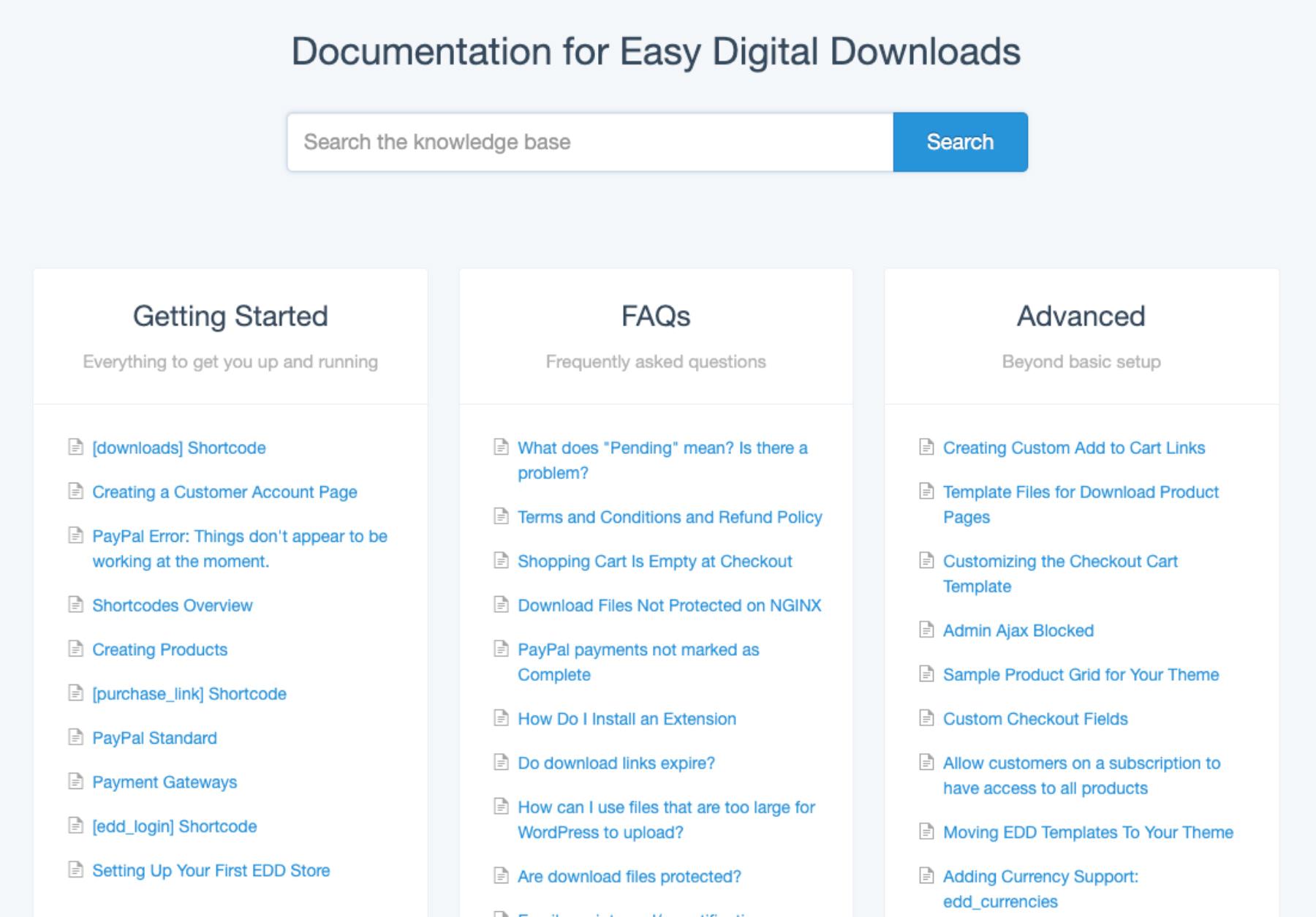 Easy Digital Downloads Doc
