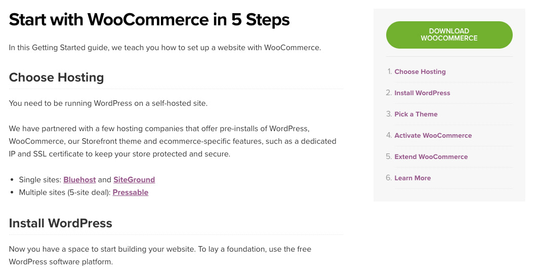 Starting with WooCommerce