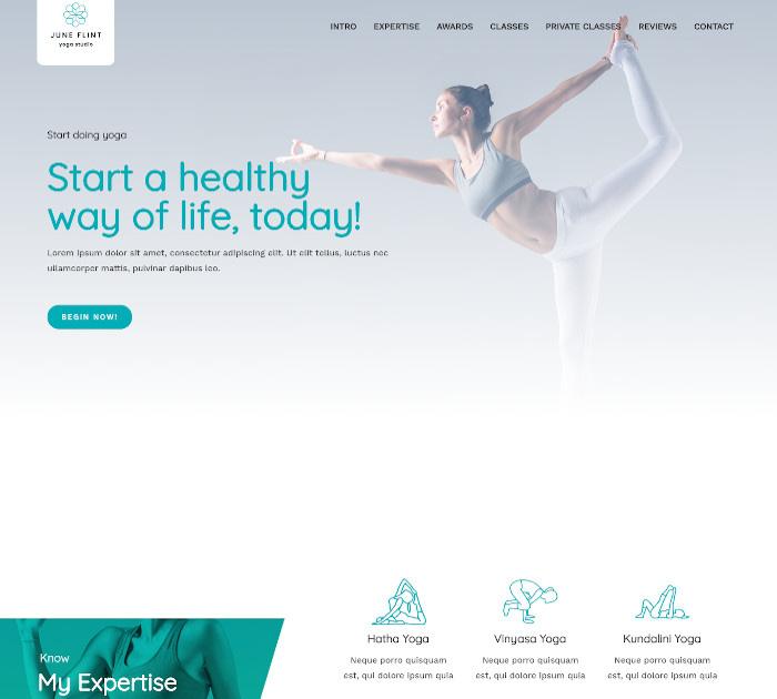 yoga WordPress themes #1: Astra