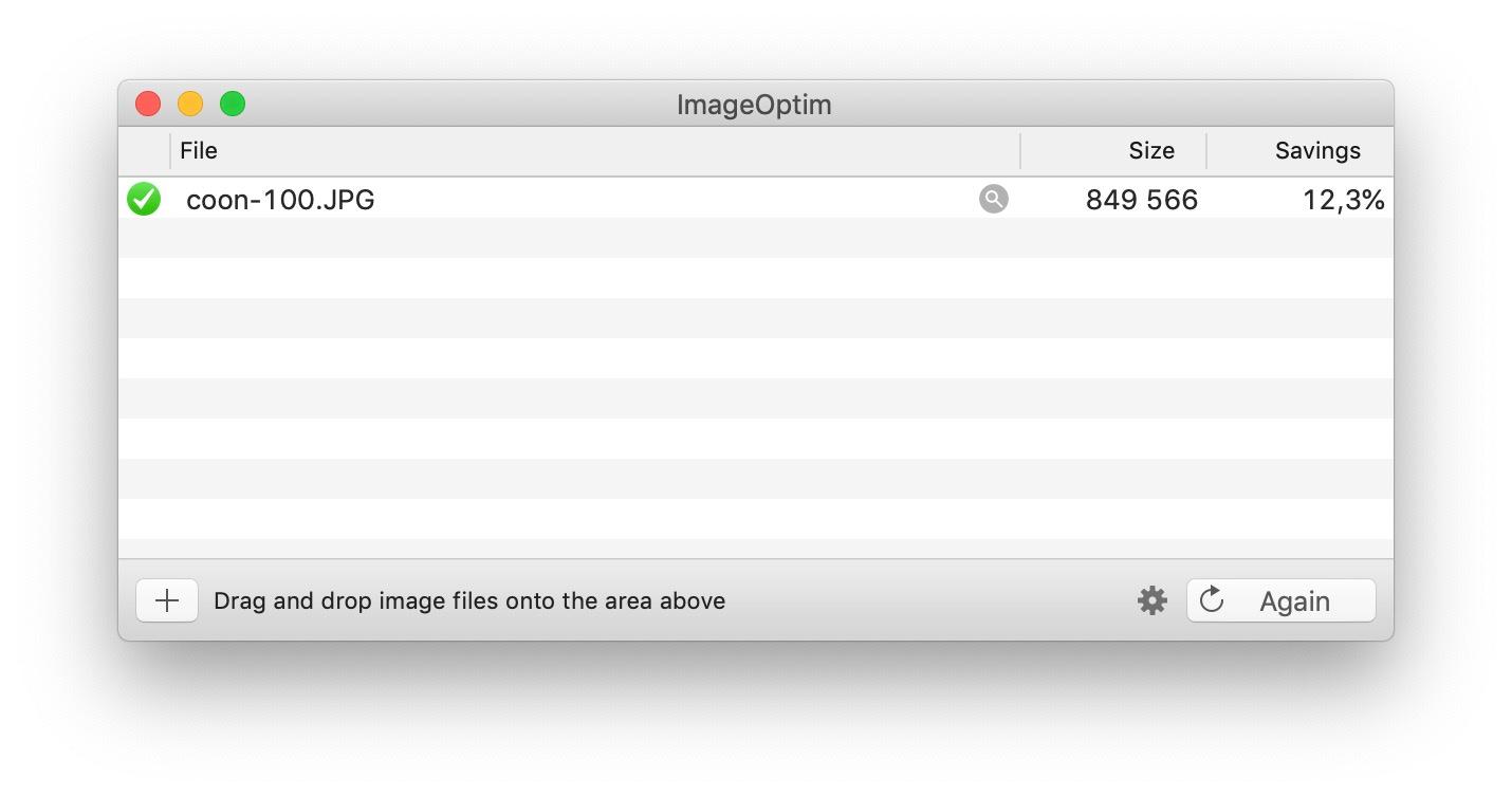 ImageOptim - great tool to optimize images on your desktop