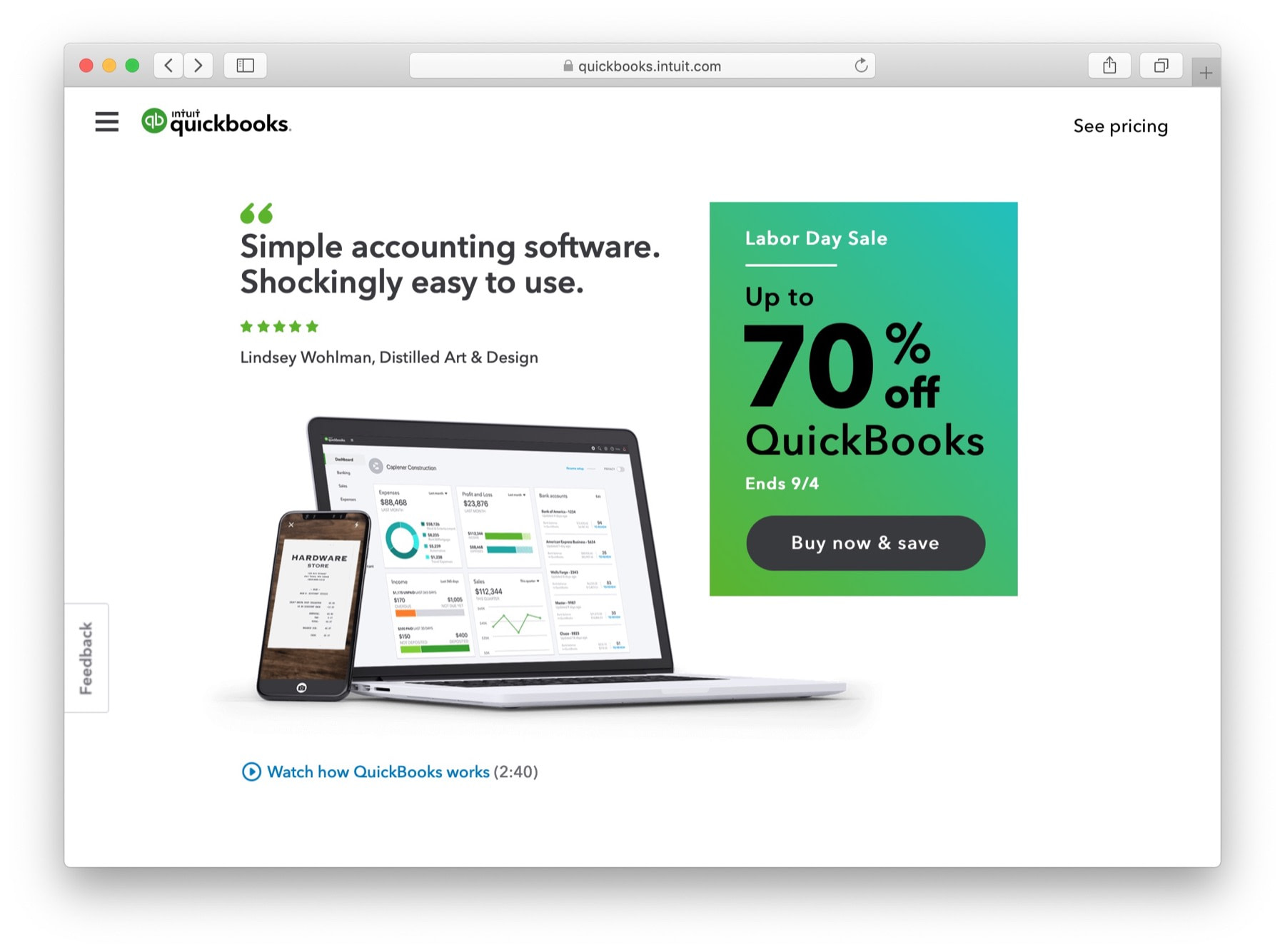 quickbooks - best accounting software for small business