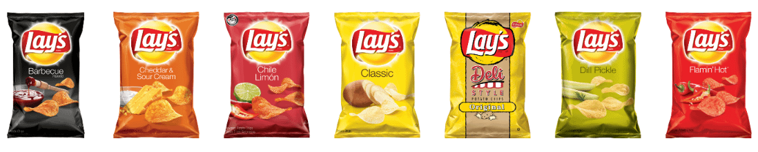 Color psychology in marketing –Lay's chip packet colors.