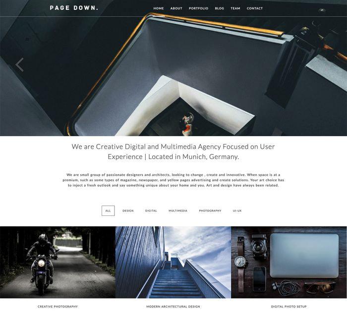 Best WordPress themes: Page Down theme