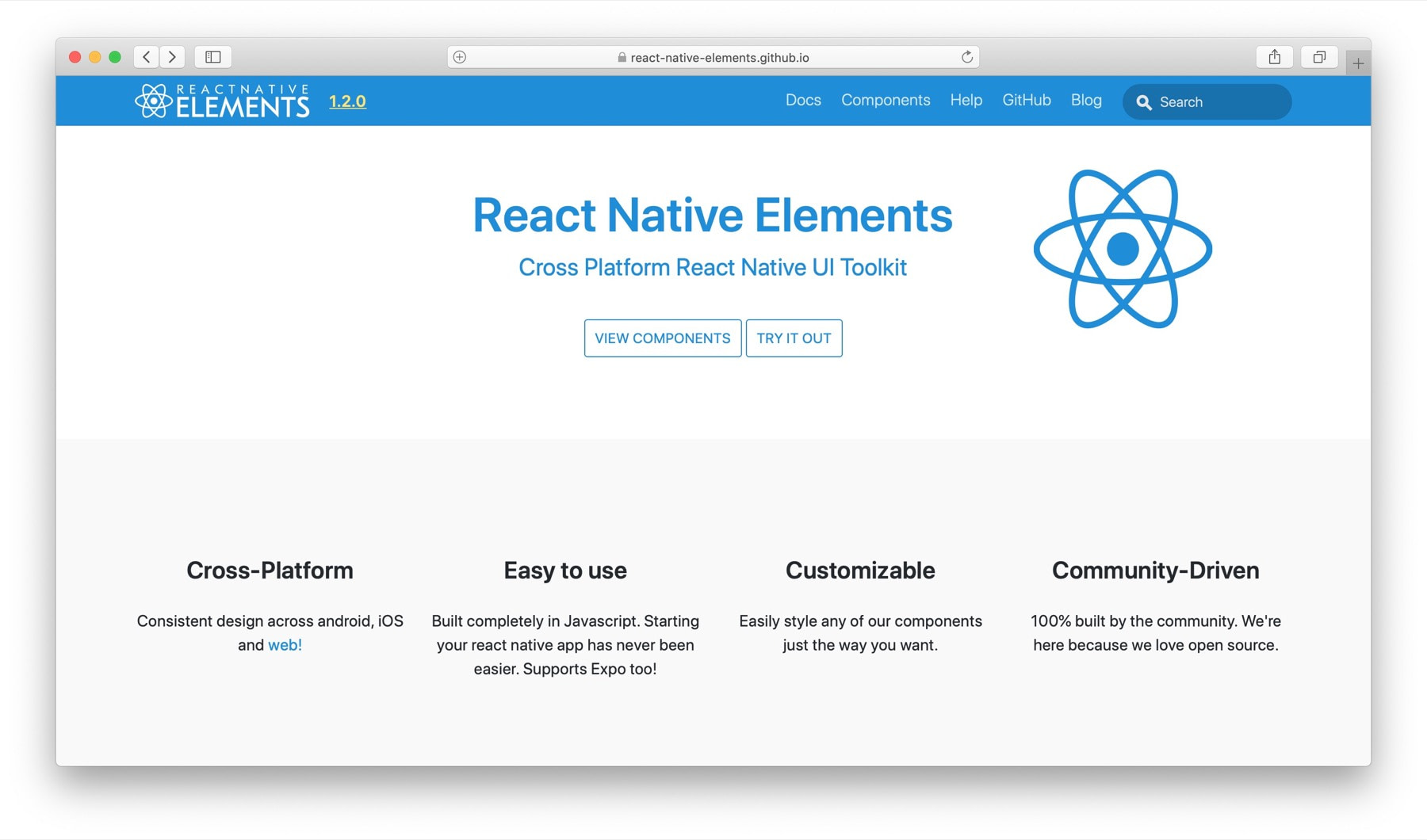 Best React Native component libraries #4: react-native-elements