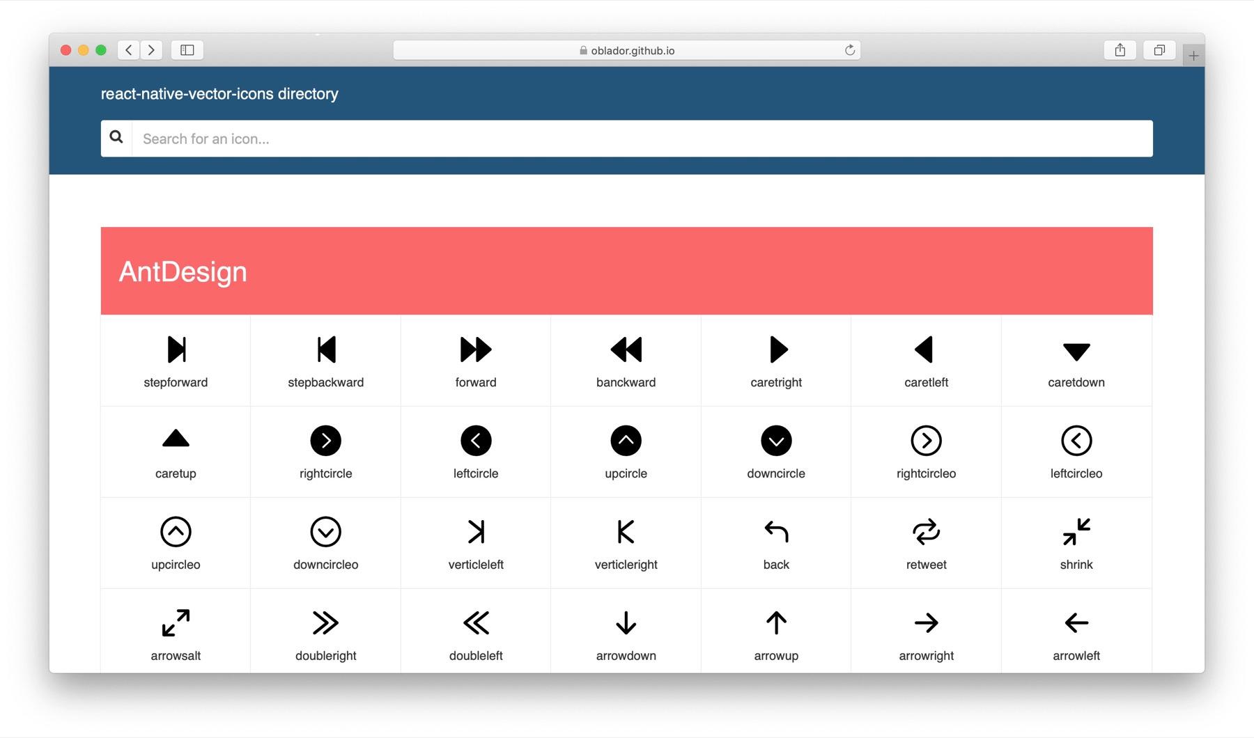 react-native-vector-icons