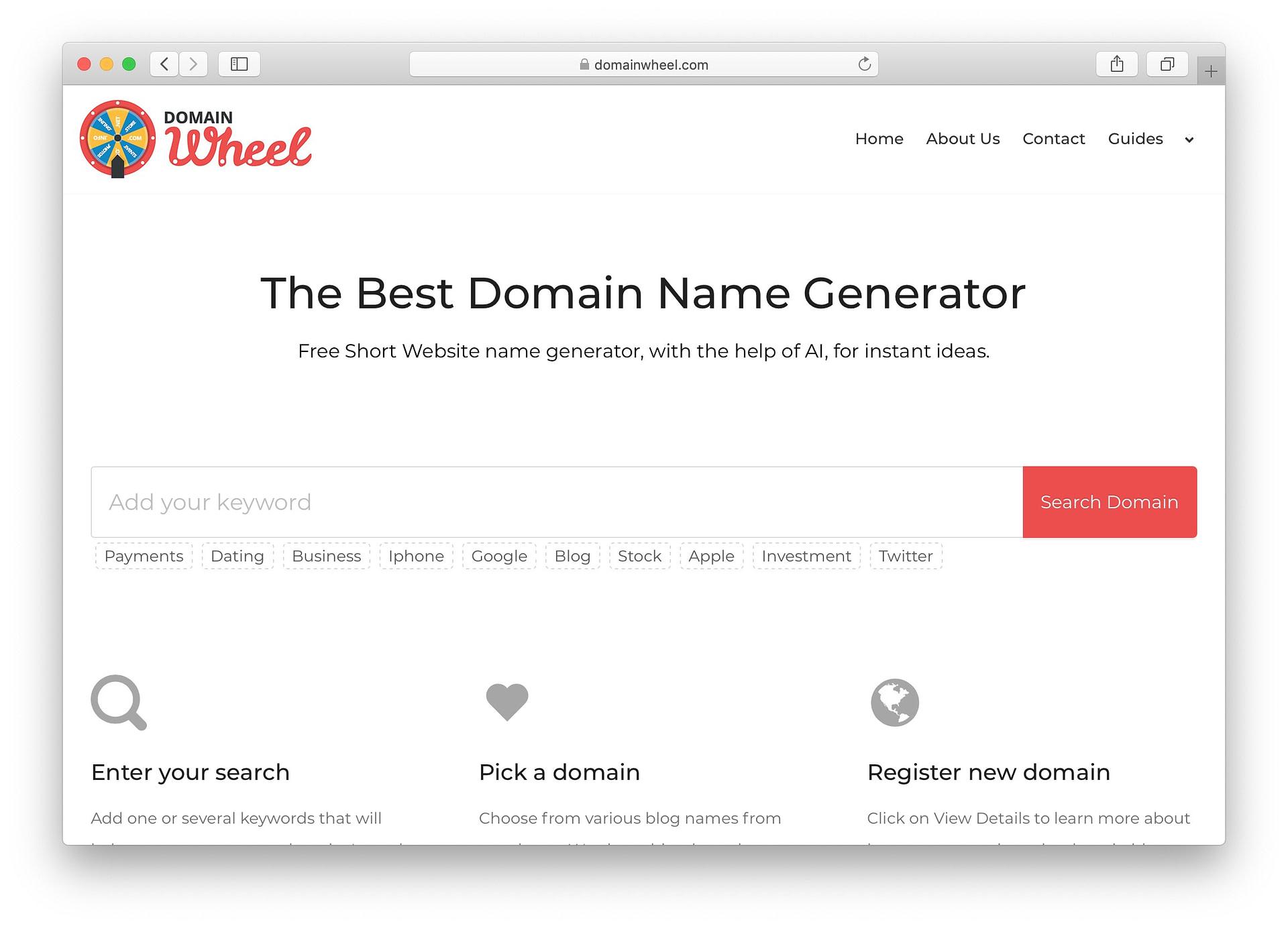 Best free business name generators: DomainWheel