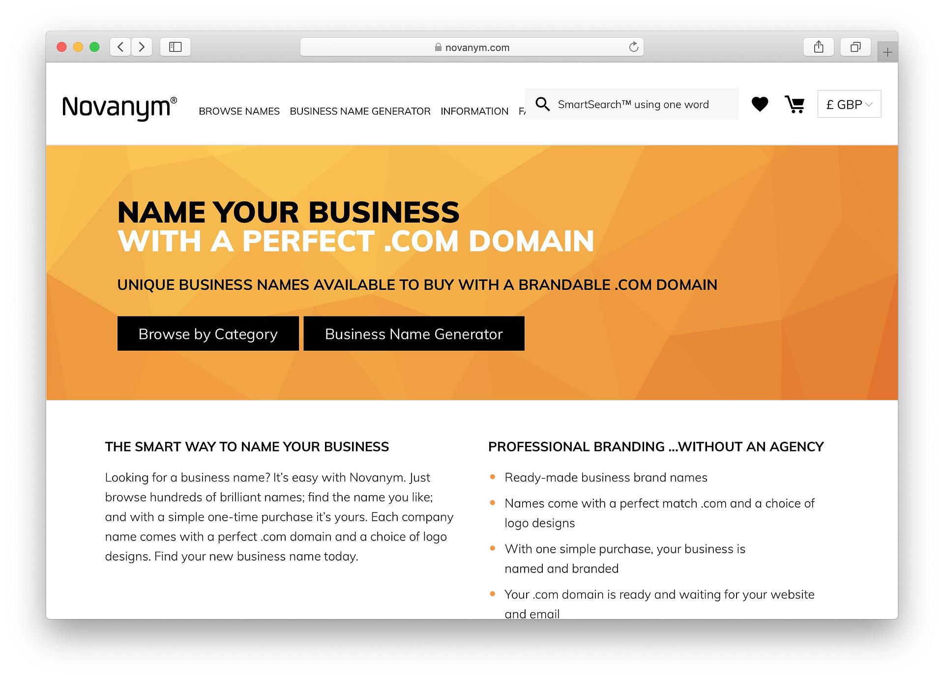 Best free business name generators: Novanym