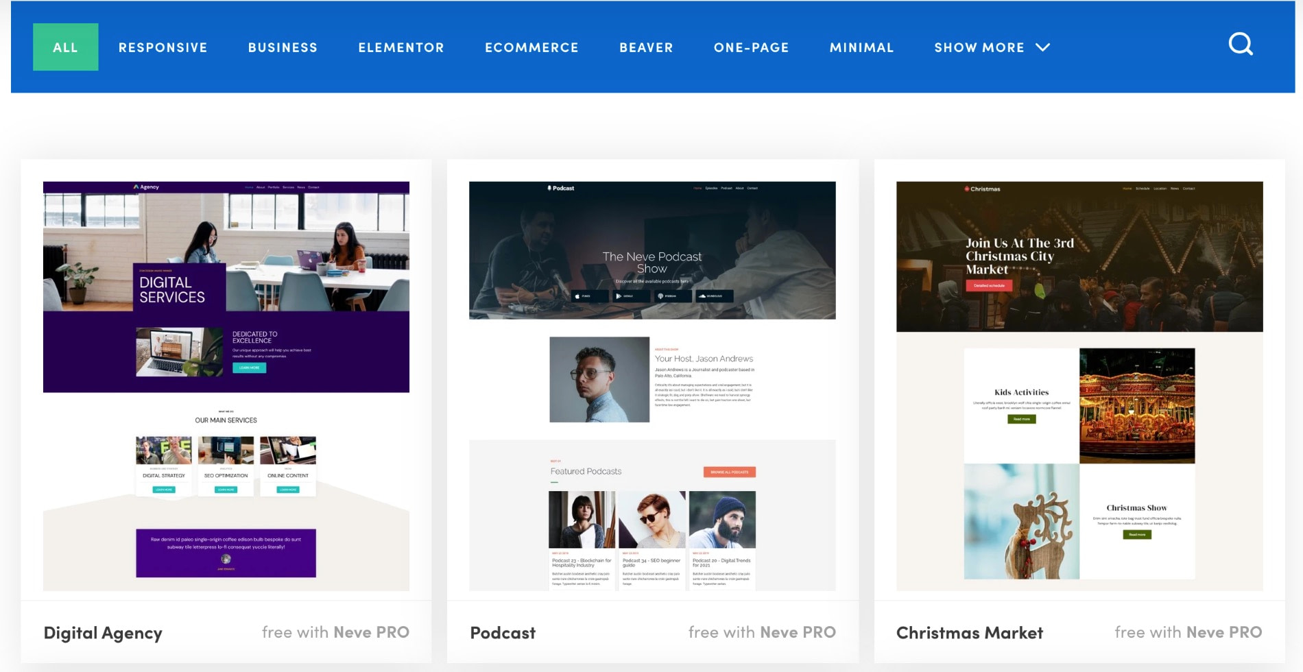 Neve starter sites