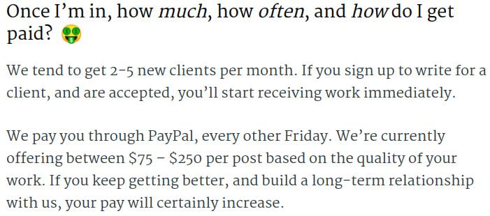Publoft writer rates
