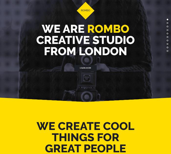Best Adobe Muse Templates: Rombo