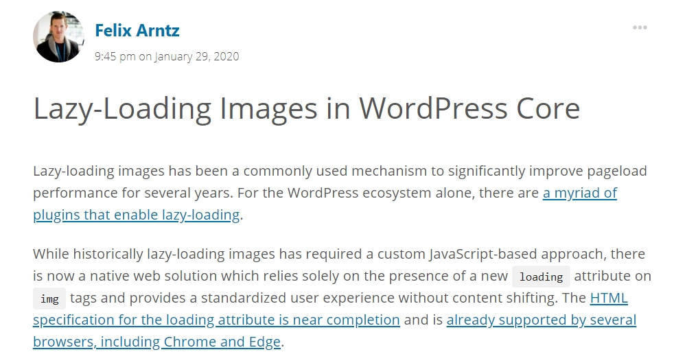 Native Lazy Loading coming to WordPress - March 2020 WordPress News