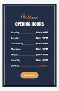 Cafe - Restaurant website template on mobile