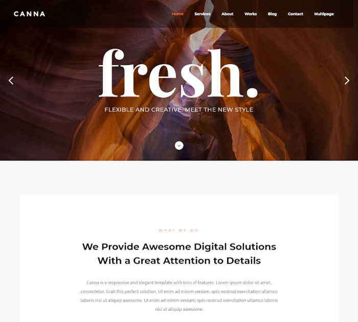 Best Webflow templates and themes: Canna - Multiuse Webflow template with page builder