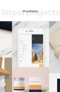 Hedone - Creative Webflow template on mobile