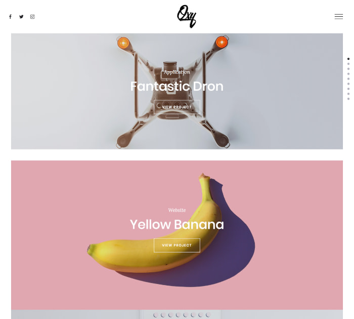 Best Webflow templates and themes: Oxy - UI Kit website template