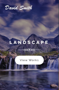 Photographer - Photography website template on mobile