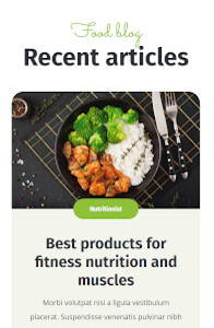 Fitmeal on mobile