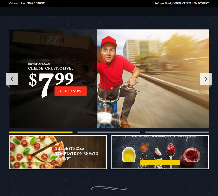 Best food delivery WordPress themes: Food & Pizzeria