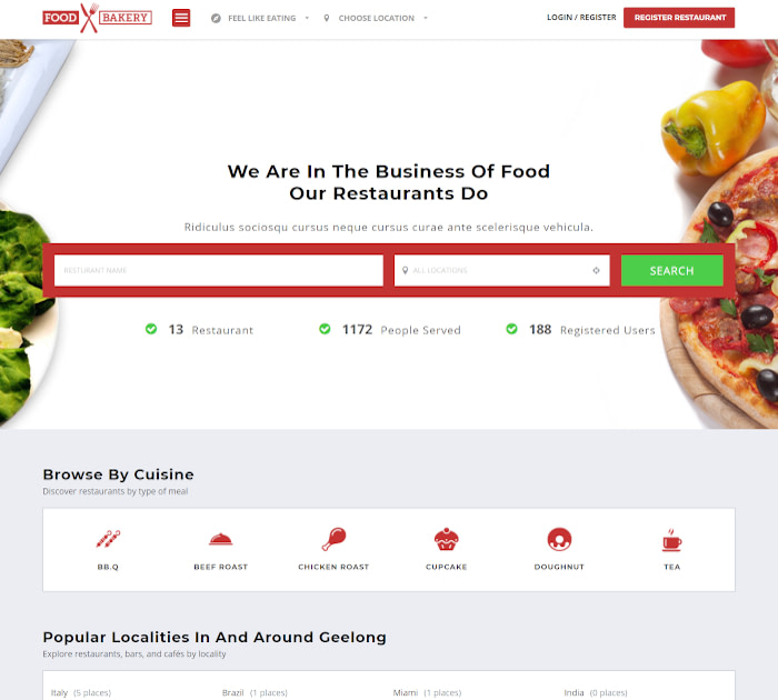 Best food delivery WordPress themes: FoodBakery