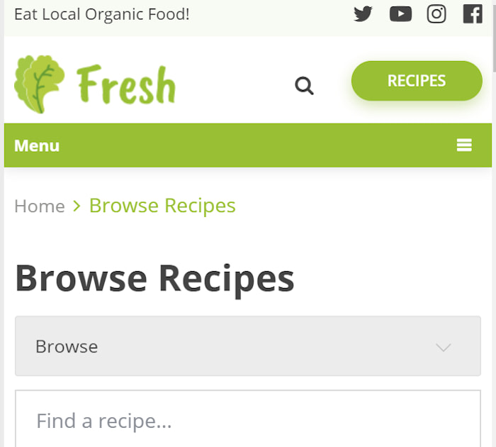 Best food delivery WordPress themes: Fresh
