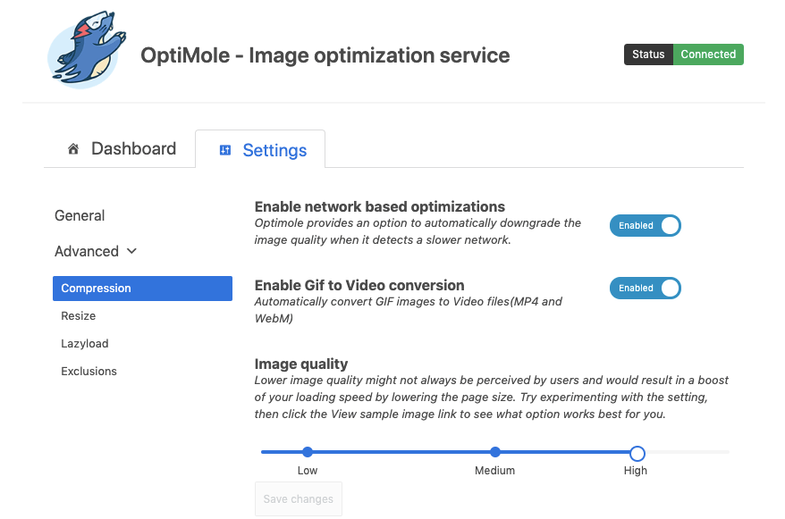 Optimole Compression - how to improve your mobile page speed