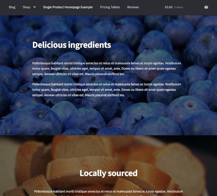 Best food delivery WordPress themes: Storefront