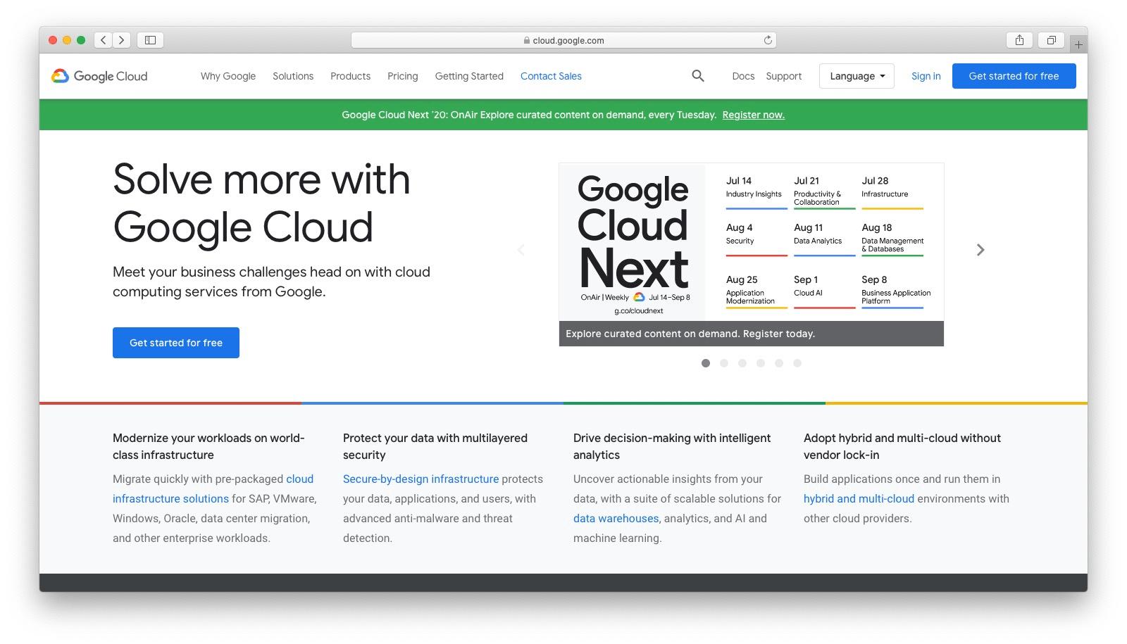 DigitalOcean alternatives: Google Cloud