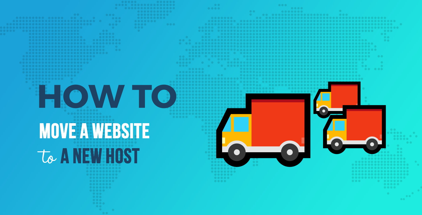 How to move a website to a new host