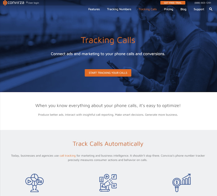 Best call tracking software: Convirza