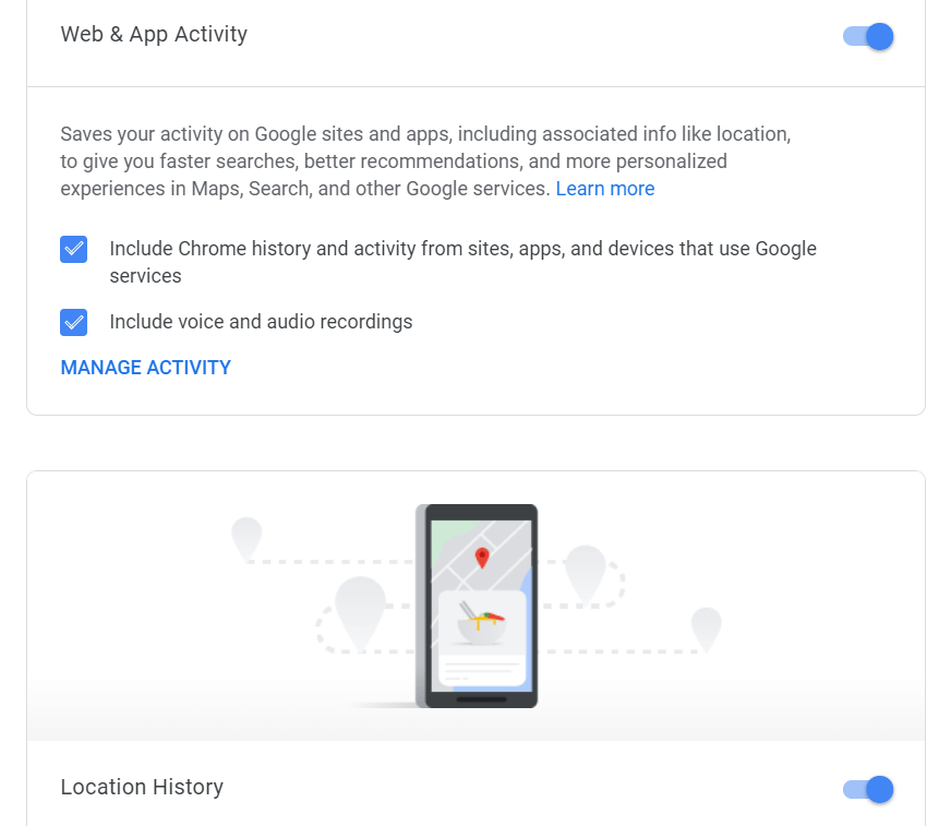 Disabling Google tracking