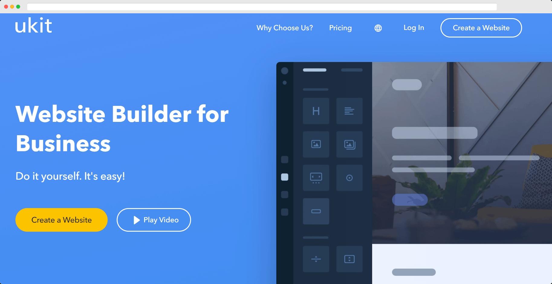 cheap website builders: ukit
