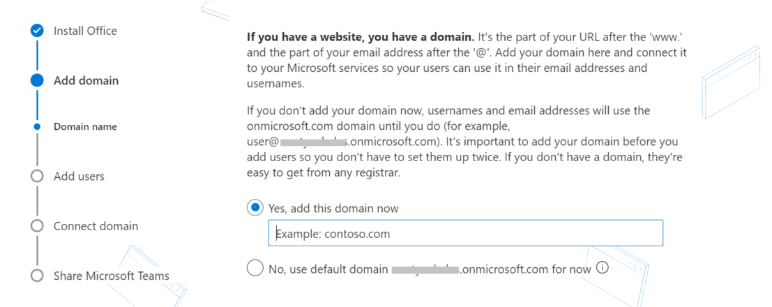 Setting up a professional email address with custom domain in Office 365