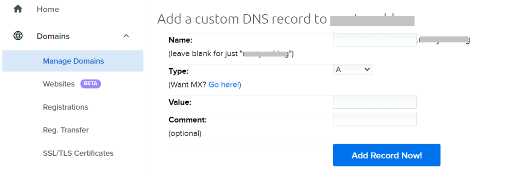 Setting up a professional email address and adding DNS records