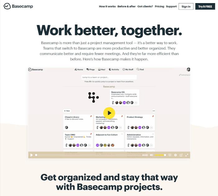 Best project management software: Basecamp
