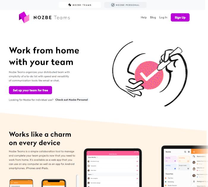 Best project management software: Nozbe