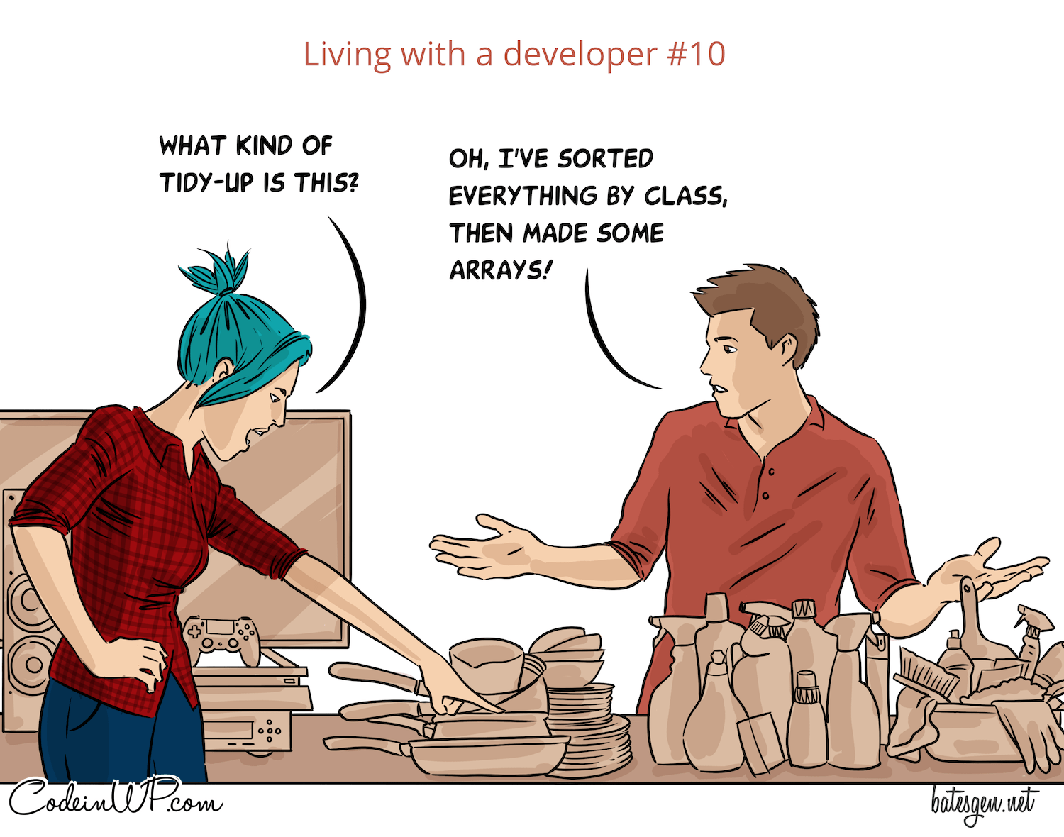 What is it like to live with a developer?