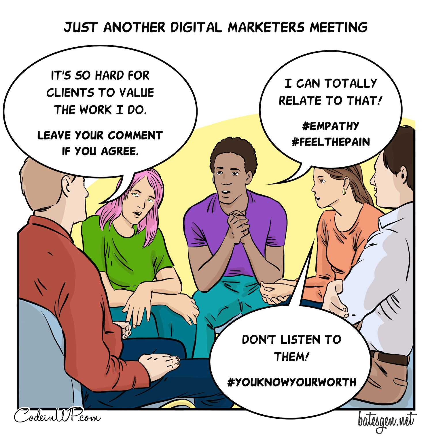 Digital marketers expressing support in their own way