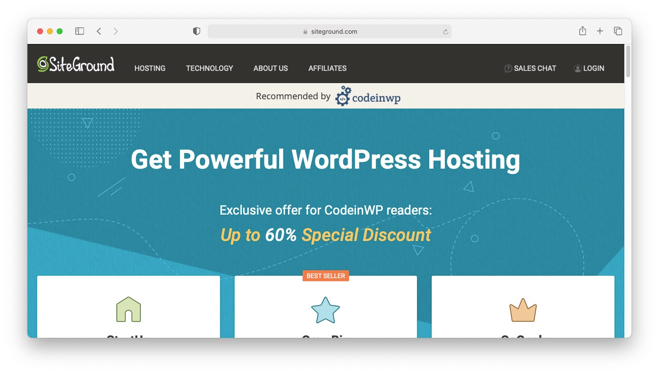 WordPress Black Friday 2020: SiteGround