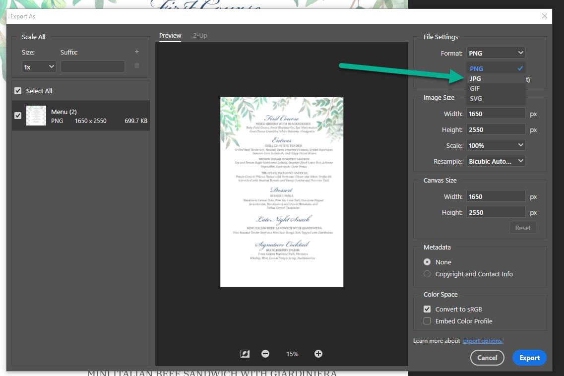 PS export - Photoshop vs Illustrator vs InDesign