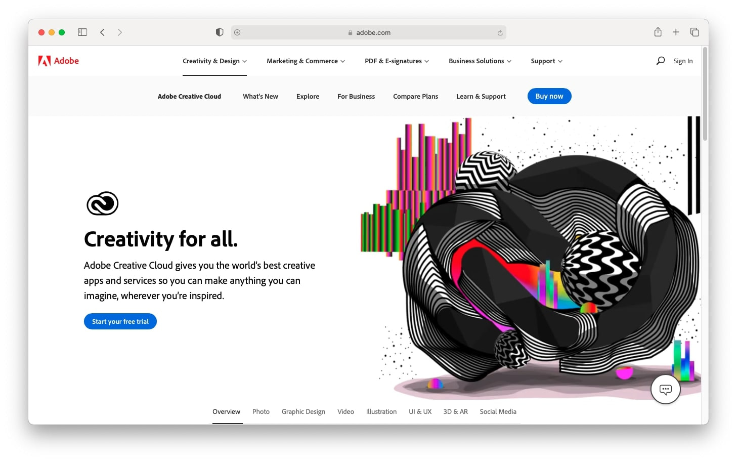 Best gifts for a designer: Adobe Creative Cloud subscription