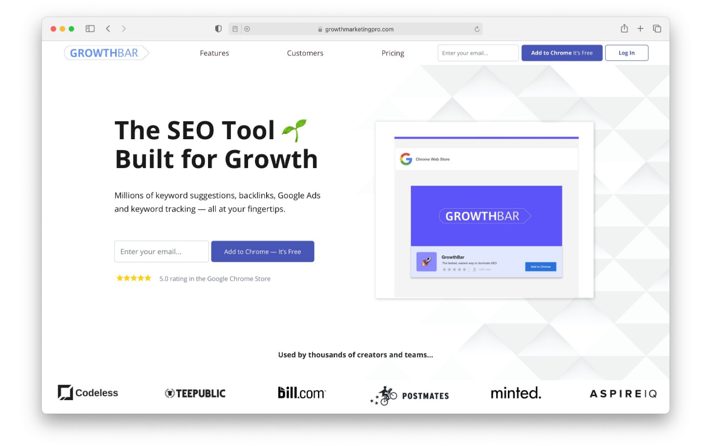 SEO tools like GrowthBar can be used everytime your perform a Google Search
