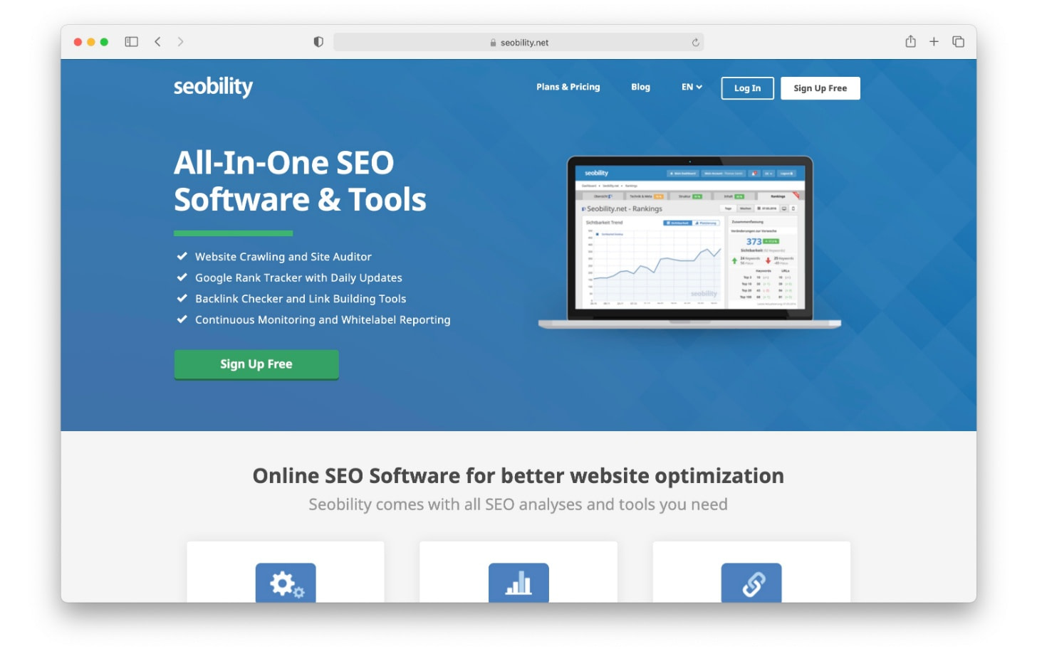 SEObility has a range of different SEO tools in one place