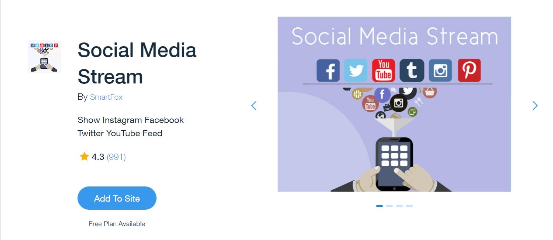Best Wix apps: Social Media Stream