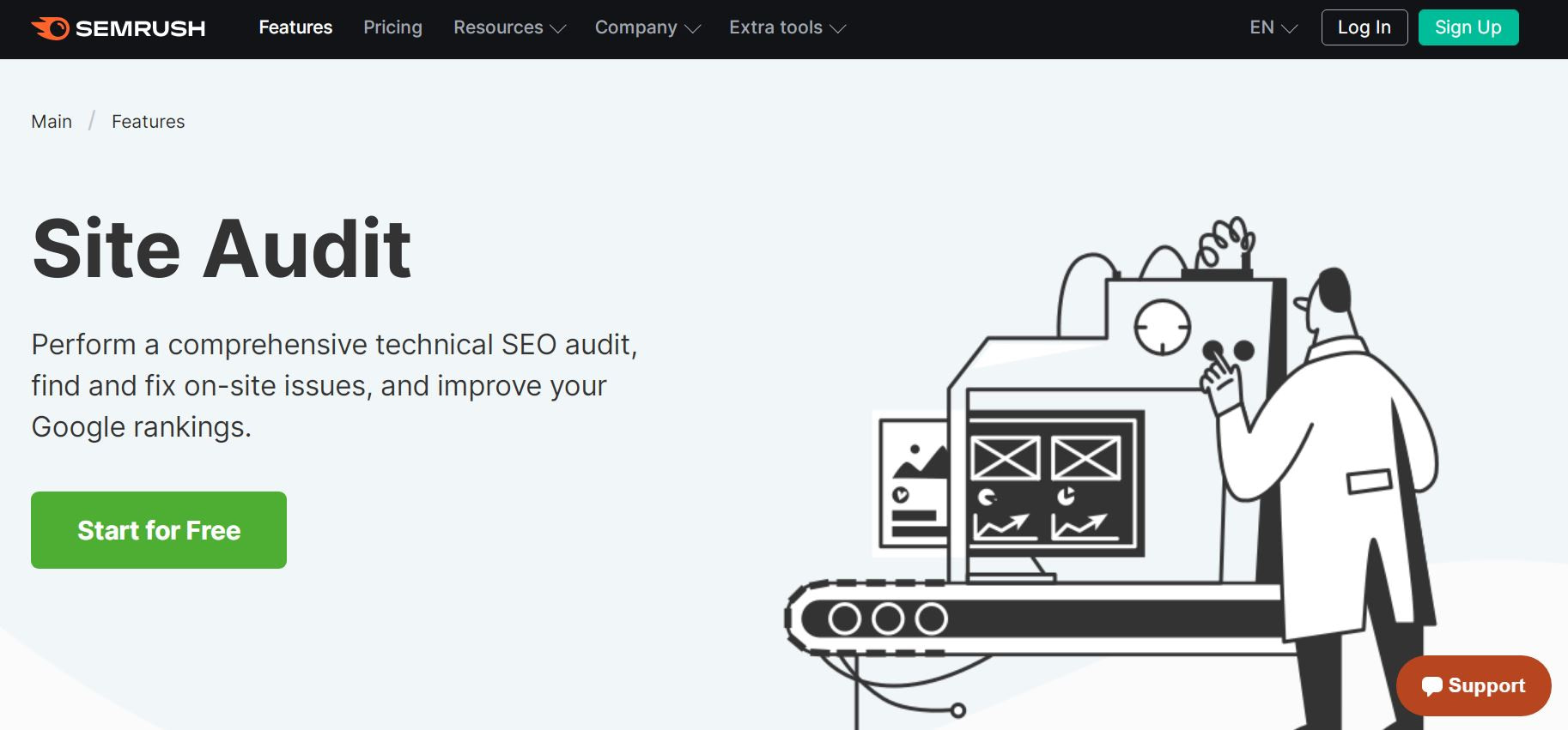 Semrush of the best SEO audit tools