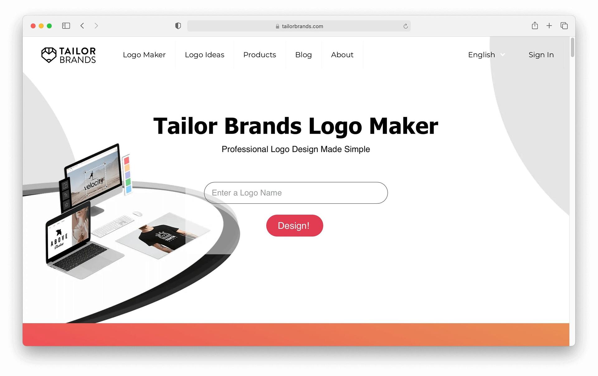 Best logo maker #1: Tailor Brands