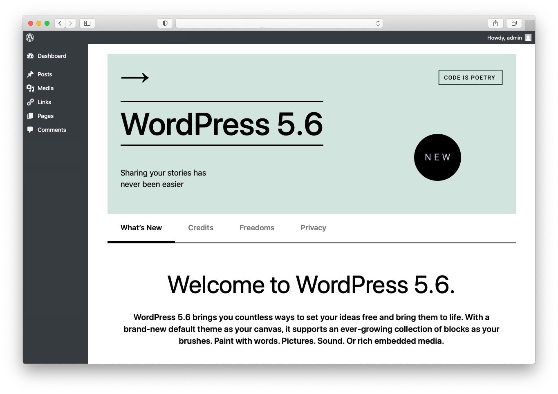 January 2021 WordPress News: WordPress 5.6